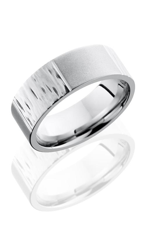 Lashbrook Cobalt Chrome Wedding band CC8F6SCORED TREEBARK 1-BEAD product image