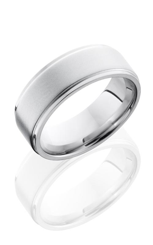 Lashbrook Cobalt Chrome Wedding band CC8FGE BEAD-POLISH product image