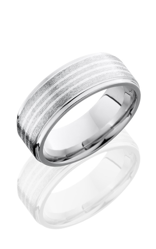 Lashbrook Cobalt Chrome Wedding band CC8FGE3.5-SS STONE-POLISH product image