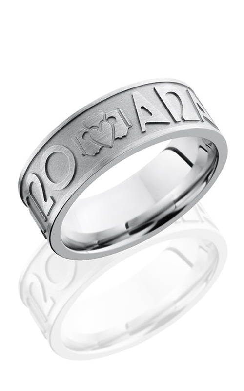Lashbrook Cobalt Chrome Wedding band CC8FMOANAMCARA BEAD-SATIN product image