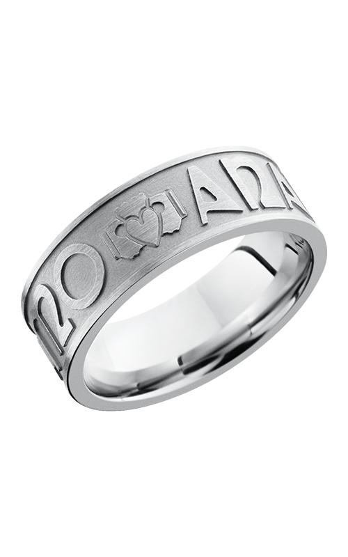 Lashbrook Cobalt Chrome Wedding band CC8FMOANAMCARA BEAD-SATIN product image