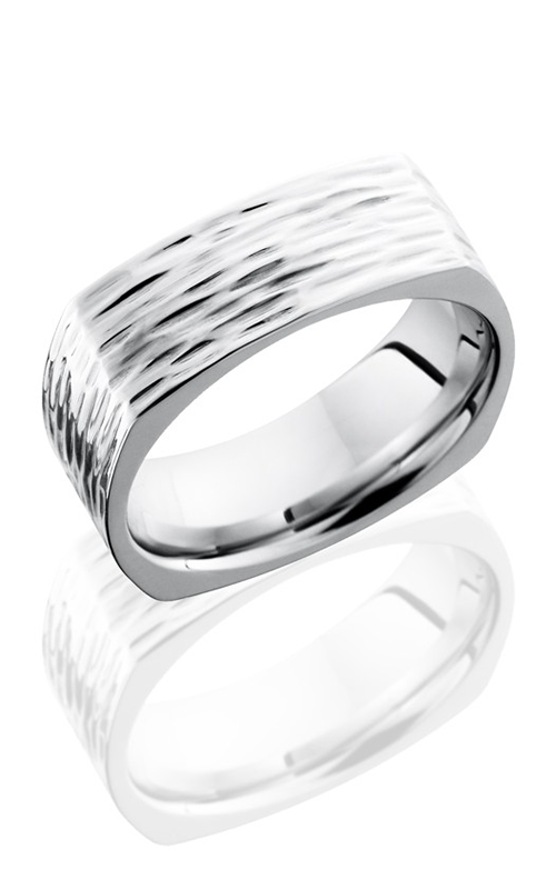 Lashbrook Cobalt Chrome Wedding band CC8FSQ TREEBARK 3 product image