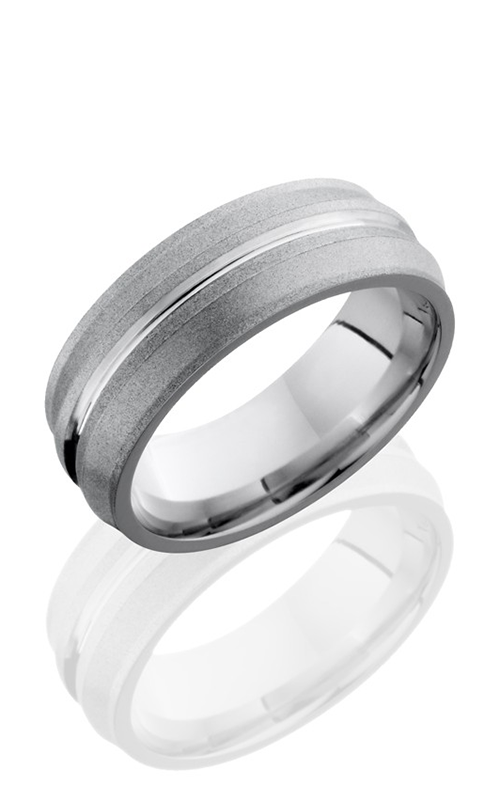 Lashbrook Cobalt Chrome Wedding band CC8ORBIT POLISH-SAND product image