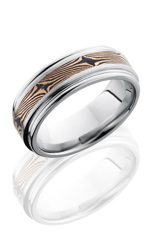 Lashbrook Cobalt Chrome Wedding band CC8REF13-M14KRSH SATIN-POLISH product image
