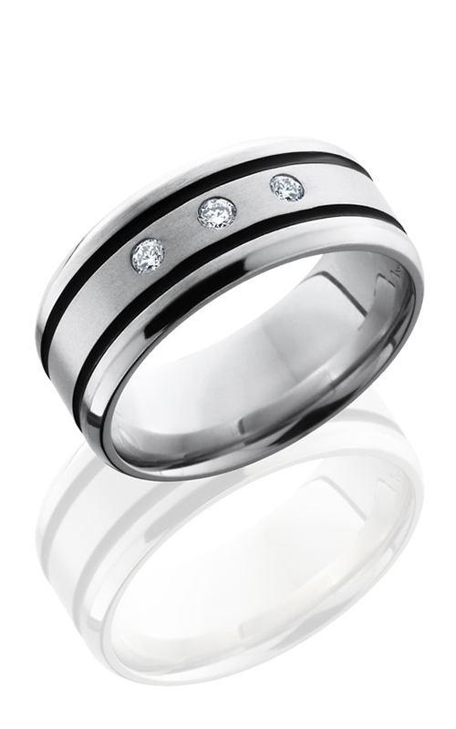 Lashbrook Cobalt Chrome Wedding band CC9B21WADIA3X.05F SATIN-POLISH product image