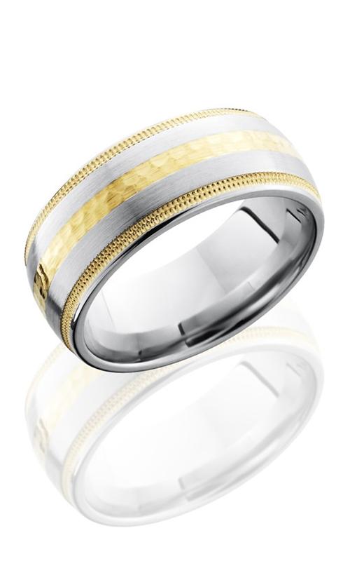 Lashbrook Cobalt Chrome Wedding band CC9D1221W-14KY14KYUMIL HAMMER product image