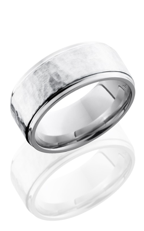 Lashbrook Cobalt Chrome Wedding band CC9FGE16-SS HAMMER-POLISH product image