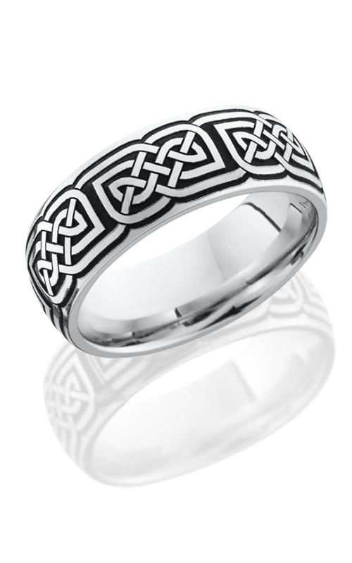 Lashbrook Cobalt Chrome Wedding band CC8D LCVCELTIC17A2 POLISH product image