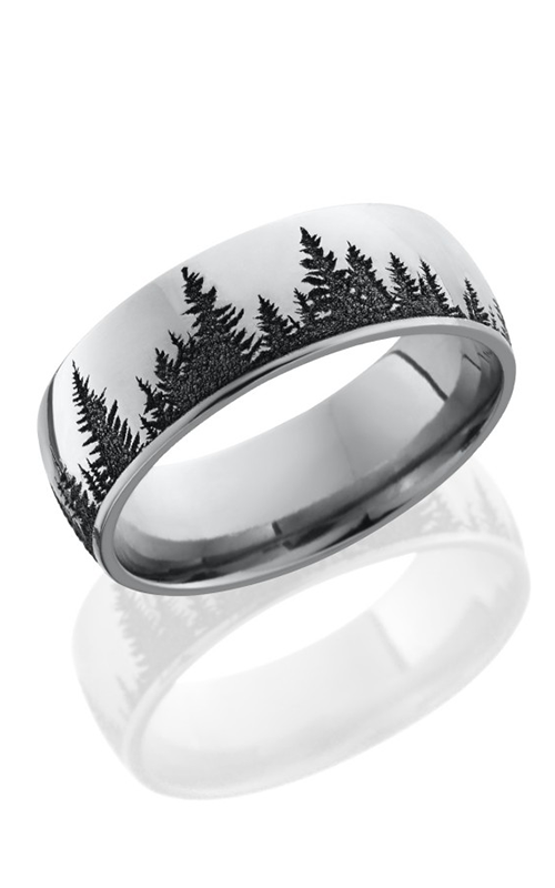 Lashbrook Cobalt Chrome Wedding band CC8D LCVTREES POLISH product image