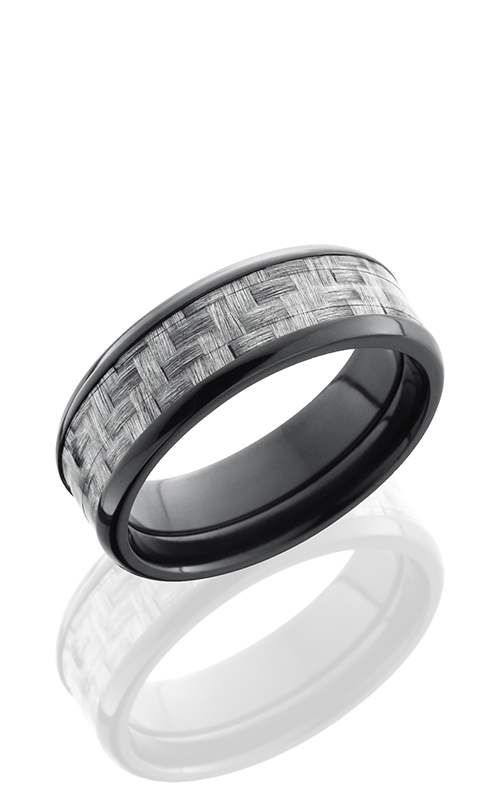 Lashbrook Carbon Fiber Wedding band ZC8B15 SILVERCF POLISH product image