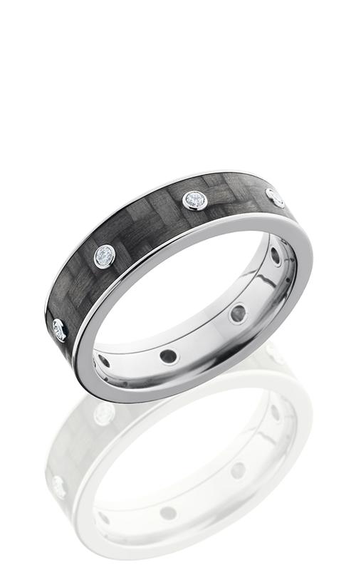 Lashbrook Carbon Fiber Wedding band C6F15 CFDIA8X.03B POLISH product image