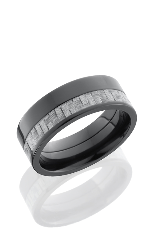 Lashbrook Carbon Fiber Wedding band ZC8F13OC SILVERCF POLISH product image