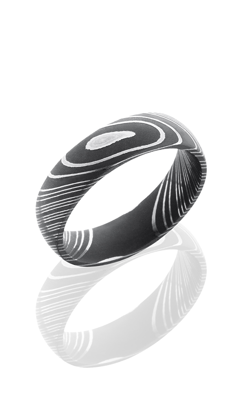 Lashbrook Damascus Steel Wedding band DAMASCUS D6D ACID product image