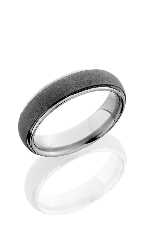 Lashbrook Titanium Wedding band 6DGE SANDBLAST POLISH product image