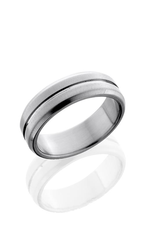 Lashbrook Titanium Wedding band 7B11 NS CROSS BRUSH POLISH product image