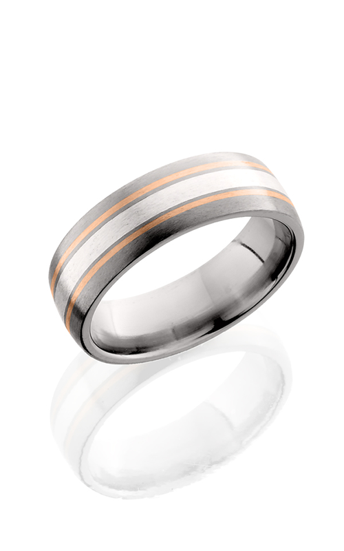 Lashbrook Titanium Wedding band 7D122.5 SS14KR SATIN product image