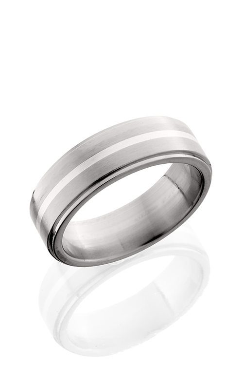 Lashbrook Titanium Wedding band 7FGE11 SS SATIN POLISH product image