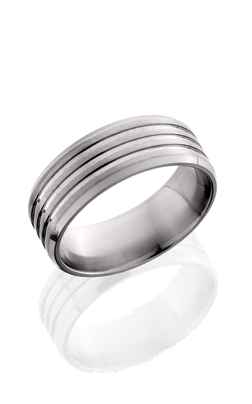 Lashbrook Titanium Wedding band 8B31 NS  SATIN POLISH product image