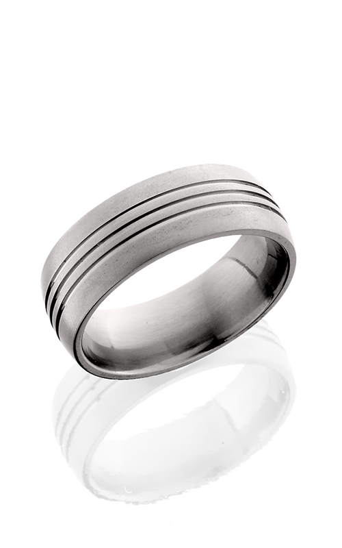 Lashbrook Titanium Wedding band 8D3.5 CROSS BRUSH product image