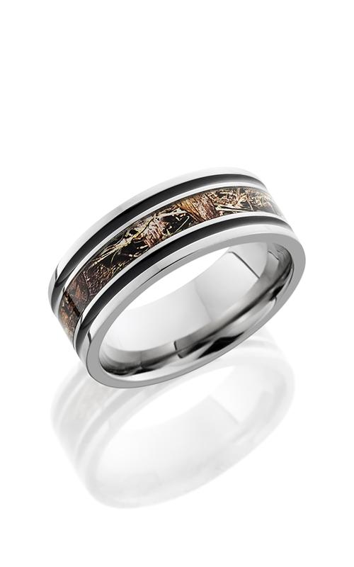 Lashbrook Titanium Wedding band 8F1321A DUCKBLIND POLISH product image
