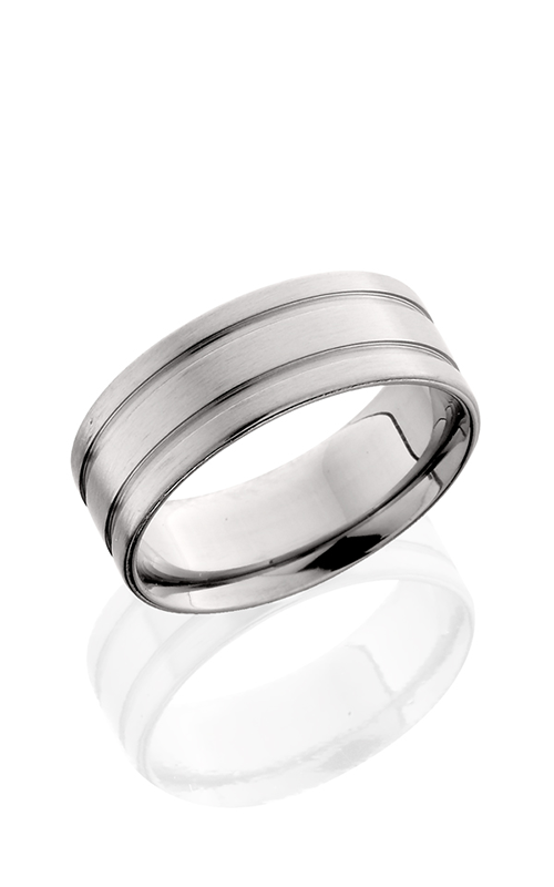 Lashbrook Titanium Wedding band 8F21 SATIN product image