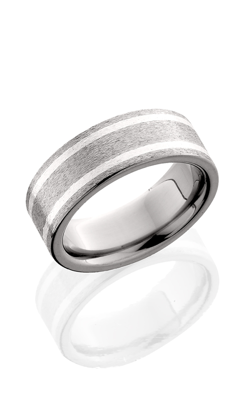 Lashbrook Titanium Wedding band 8F21W SS STONE product image