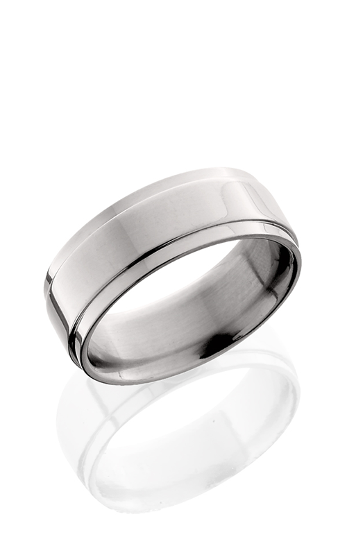 Lashbrook Titanium Wedding band 8FGEW POLISH product image