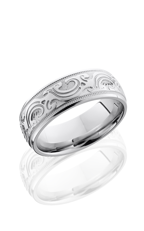 Lashbrook Cobalt Chrome Wedding band CC8FMKBA BEAD-POLISH product image