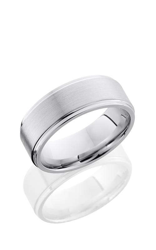 Lashbrook Cobalt Chrome Wedding band CC8FGE ANGLE SATIN product image