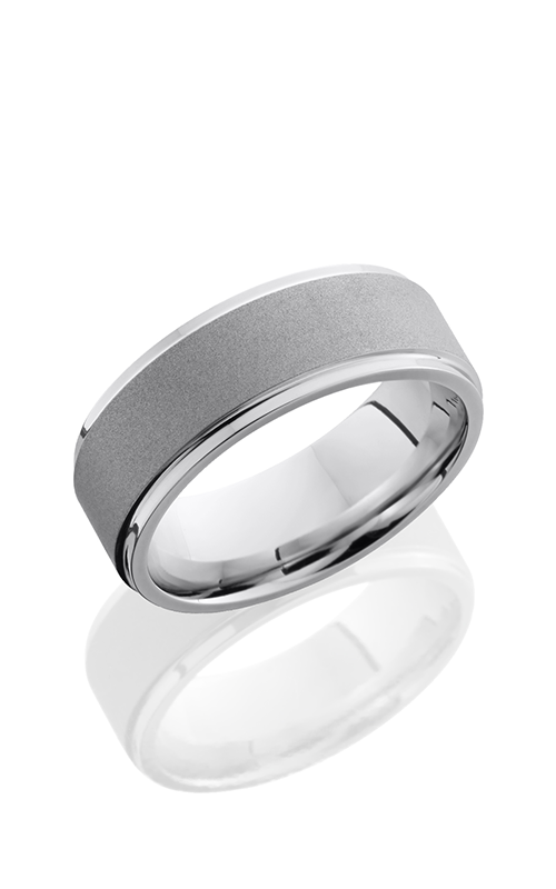 Lashbrook Cobalt Chrome Wedding band CC8FGE SAND-POLISH product image