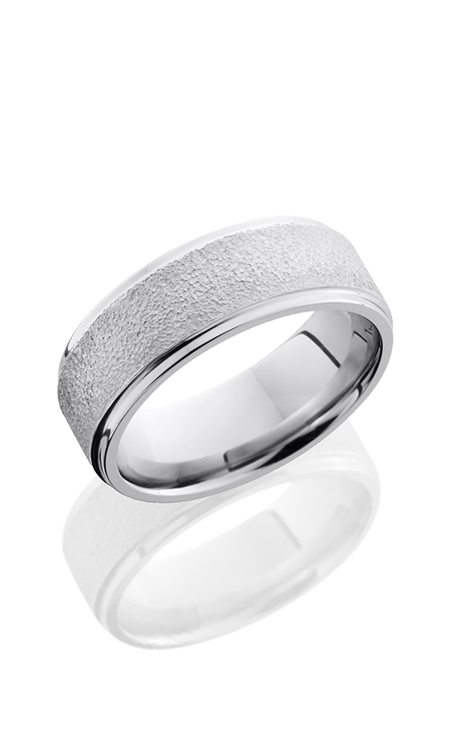 Lashbrook Cobalt Chrome Wedding band CC8FGE STIPPLE-POLISH product image