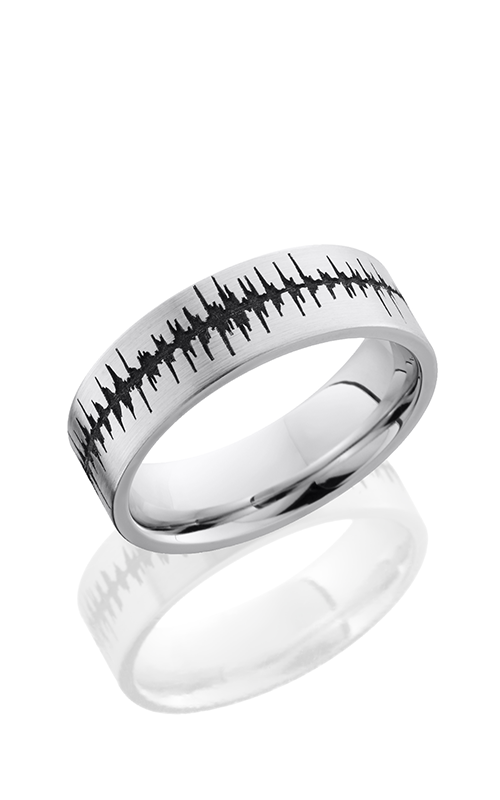 Lashbrook Cobalt Chrome Wedding band CC7F LCVSOUNDWAVE product image