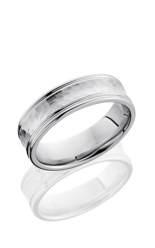 Lashbrook Cobalt Chrome Wedding band CC7REC HAMMER-POLISH product image