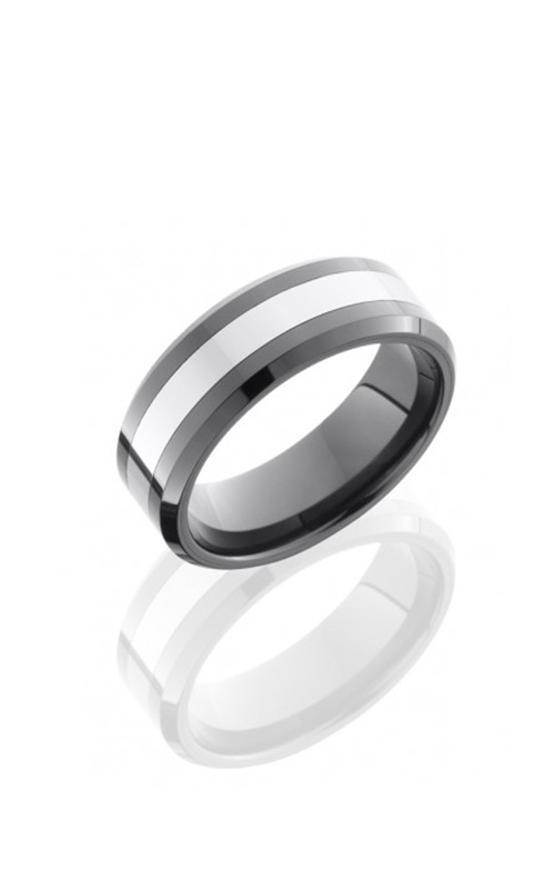Lashbrook Tungsten Ceramic Wedding band TCR8335-BEAD product image