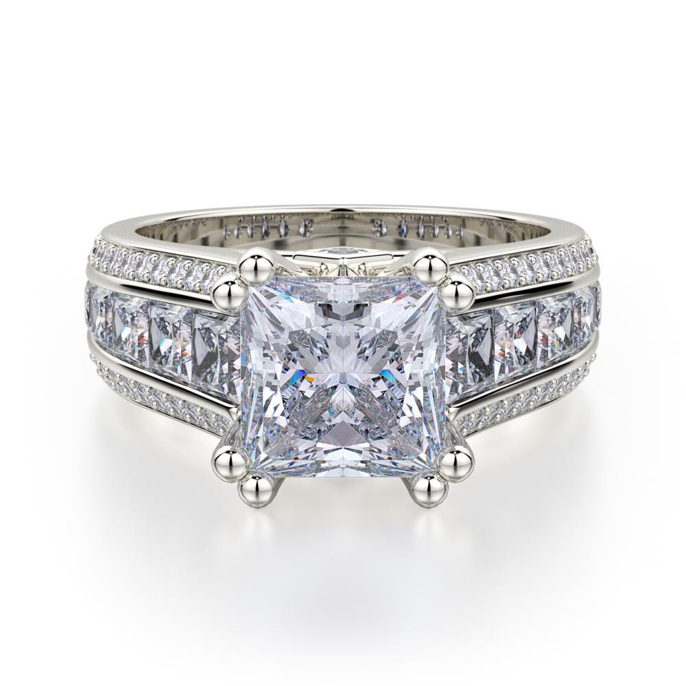 Michael M Princess Engagement ring R401-2 product image