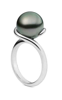 Mikimoto Twist- Black South Sea Ring PRA 851B W product image