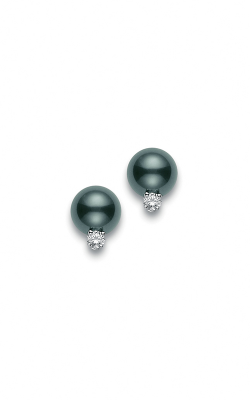 Mikimoto Black South Sea Stud Earrings with Diamond PES 902BD W product image