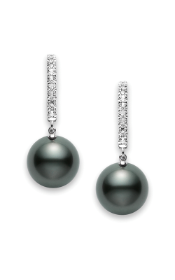Mikimoto Classic Elegance Black South Sea Lever Back Earrings PEA 1008BD W product image