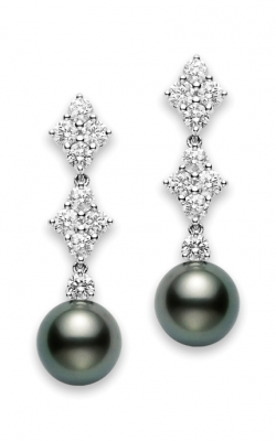 Mikimoto Classic Elegance Black South Sea Long Earrings PEA 1049BD W product image