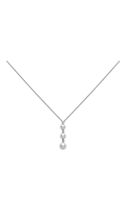 Mikimoto Three Pearl Drop Pendant PP 1816D W product image