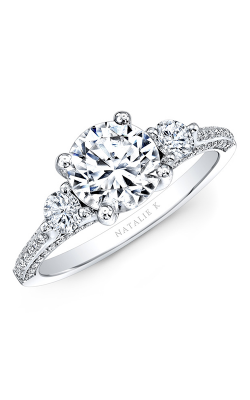 Natalie K Trois Diamants Engagement Ring NK29609ZTD-W
