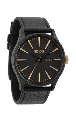 Nixon The Sentry Leather Watch A105-1041