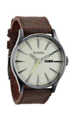 Nixon The Sentry Leather Watch A105-1388