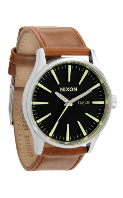 Nixon The Sentry Leather Watch A105-1037