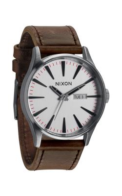 Nixon The Sentry Leather Watch A105-1113