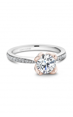 Noam Carver Floral Engagement Ring B019-01WRA product image