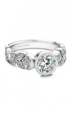 Noam Carver Floral Engagement ring B028-01A product image