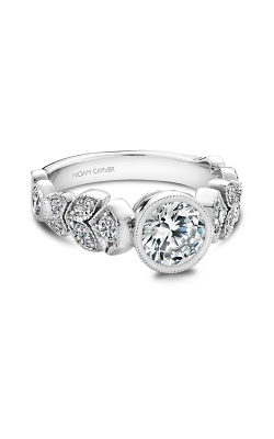 Noam Carver Floral Engagement Ring B028-01WM product image