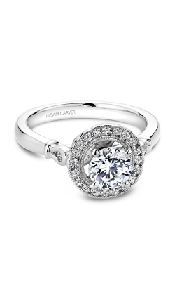 Noam Carver Floral Engagement Ring B065-01WM product image