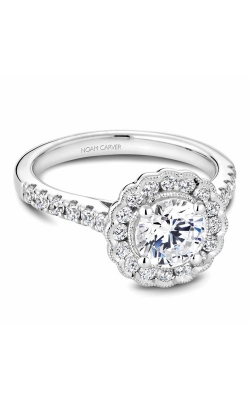 Noam Carver Floral Engagement Ring B150-01WM product image
